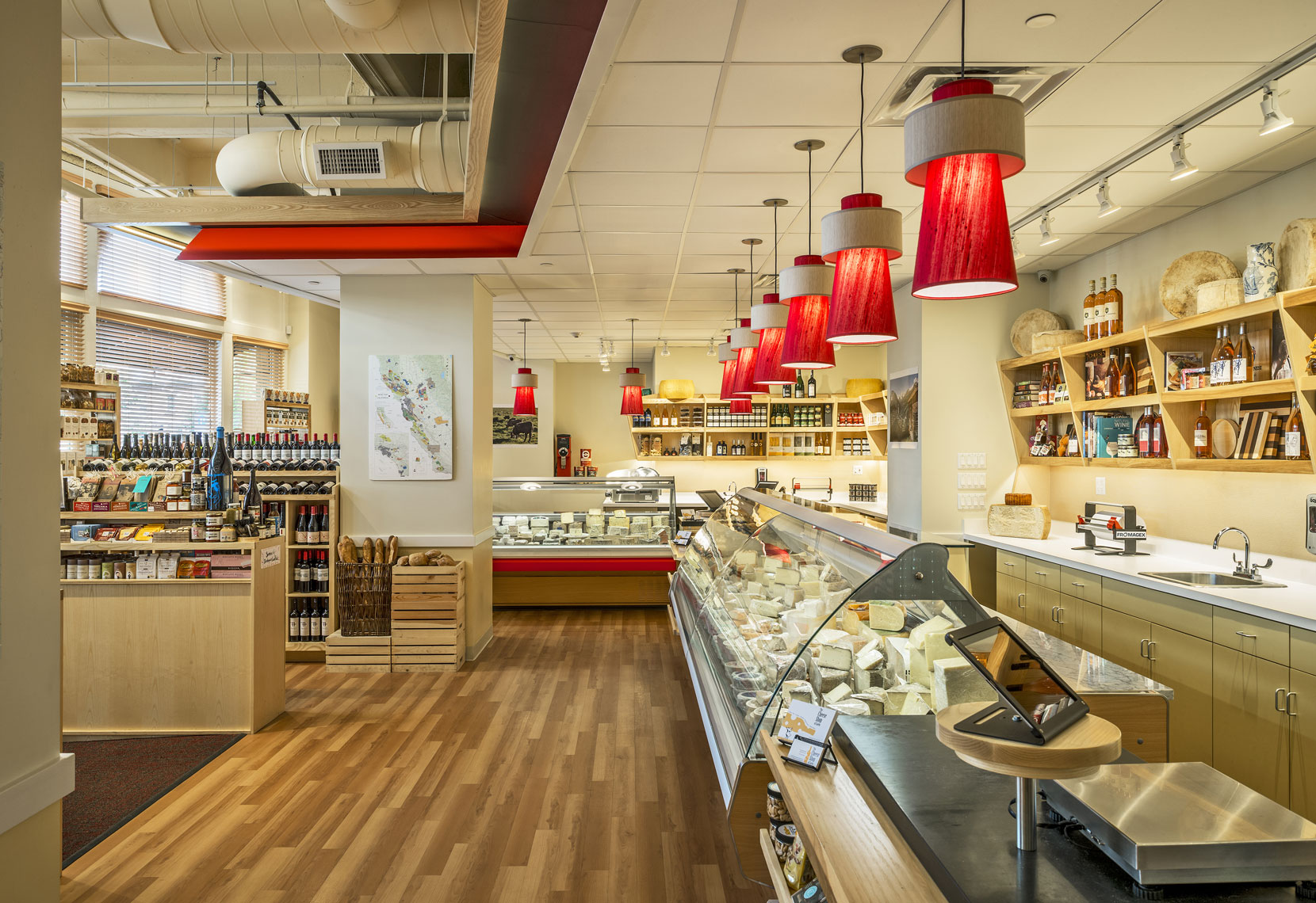 The Cheese Shop of Salem, Interior Design by Kenneth E. Hurd & Associates