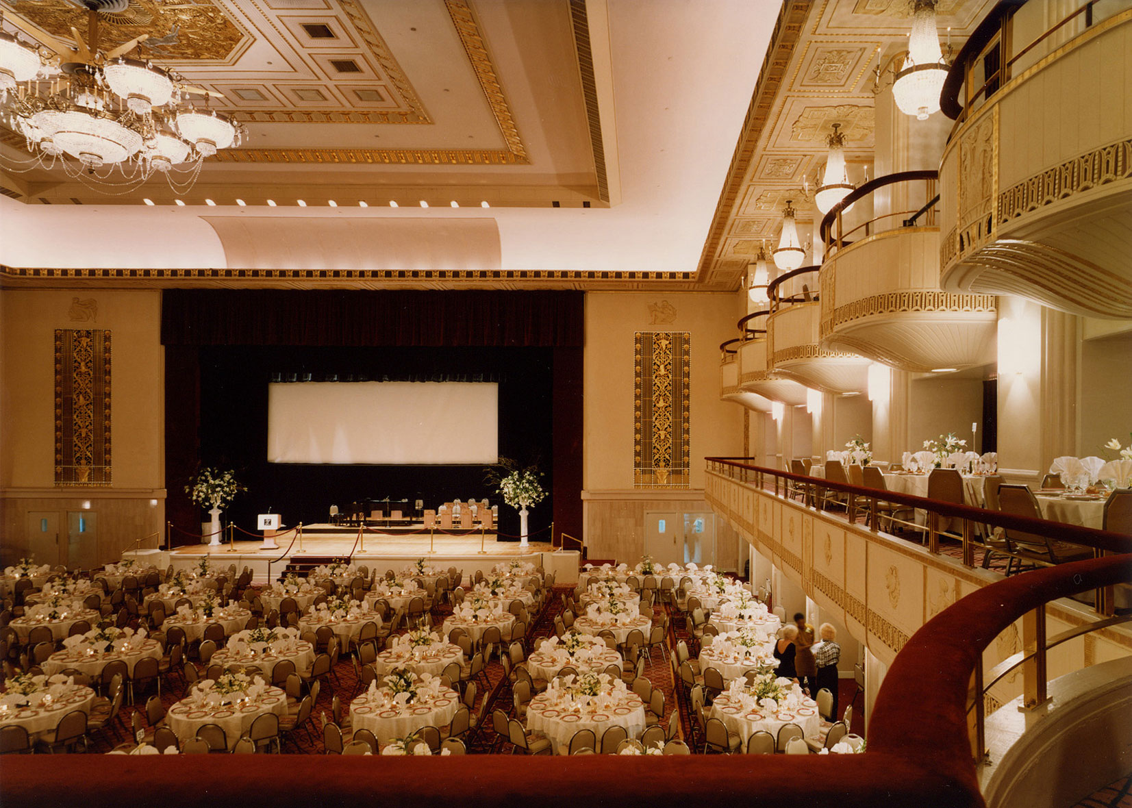 Grand Ballroom, Waldorf=Astoria, Park Avenue, New York, Interior Design by Kenneth E. Hurd & Associates